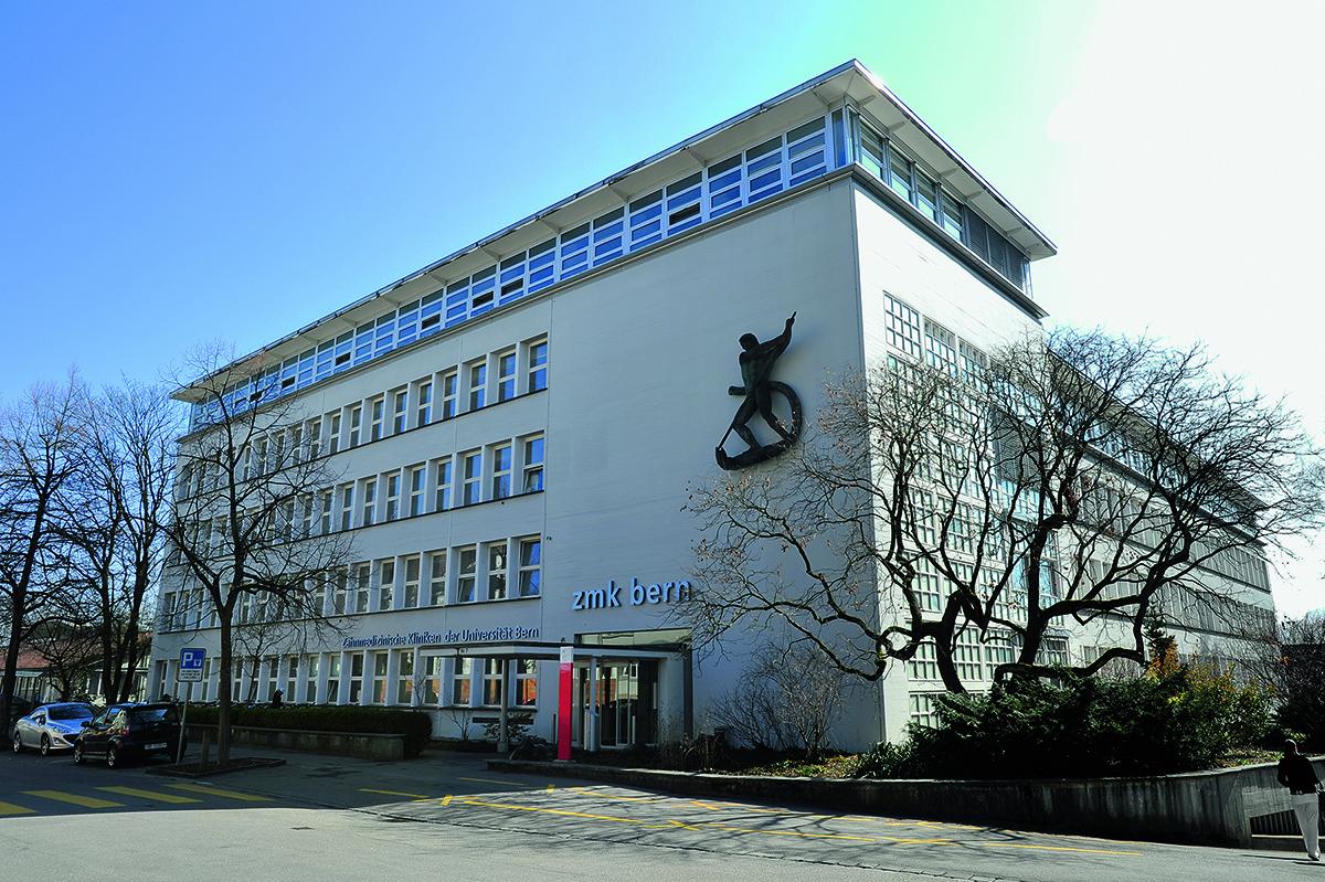 Gebäude der Zahnmedizinischen Kliniken der Universität Bern. © ZMK Bern, I. Badertscher