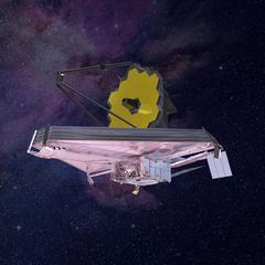 Das James-Webb-Weltraumteleskop ist der Nachfolger des Hubble-Teleskops und soll 2020 gestartet werden. JWST Artist Impression, Bildnachweis: NASA/Northrop Grumman