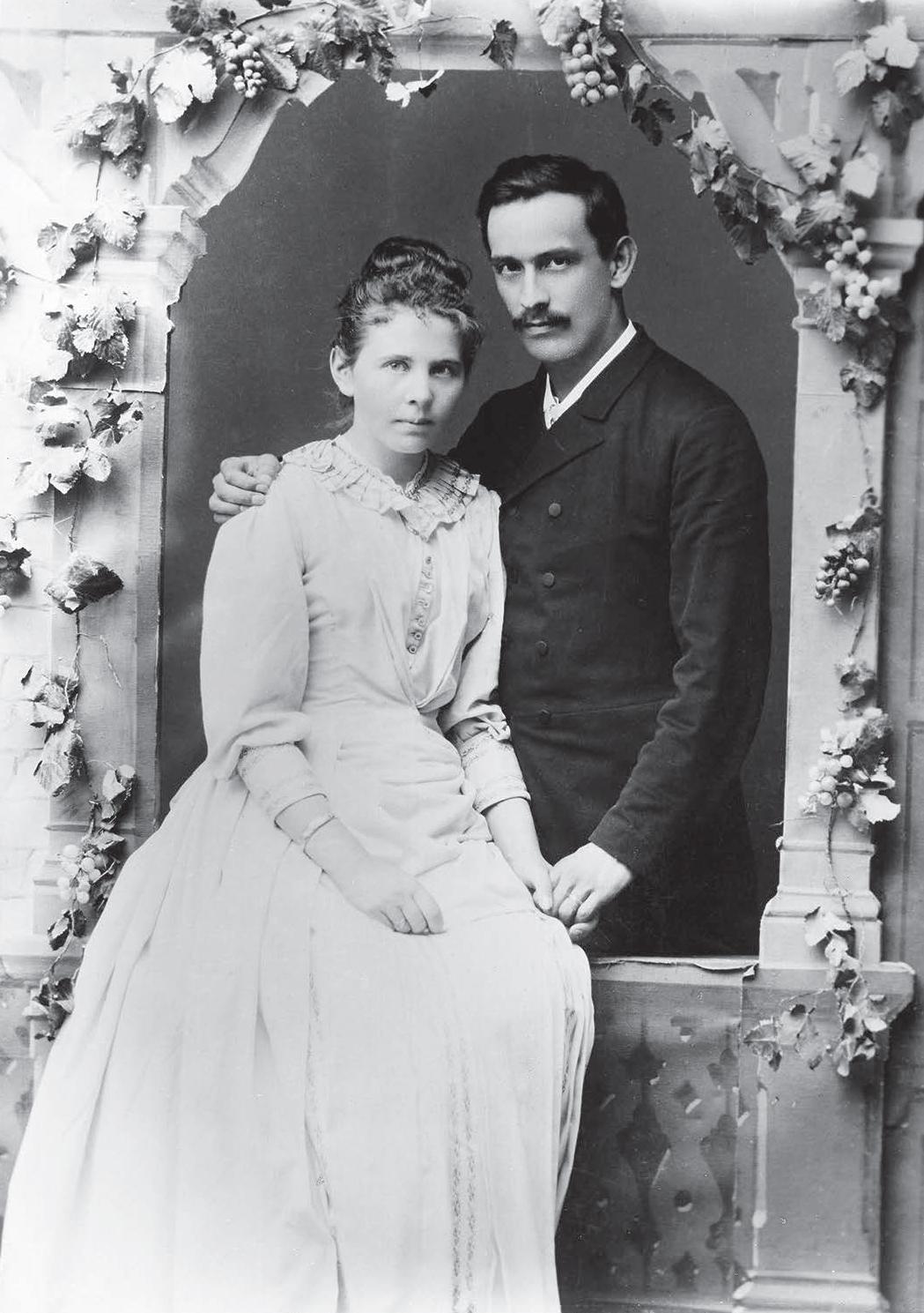 Hochzeitsbild des Ehepaars Huber (1876). © zvg