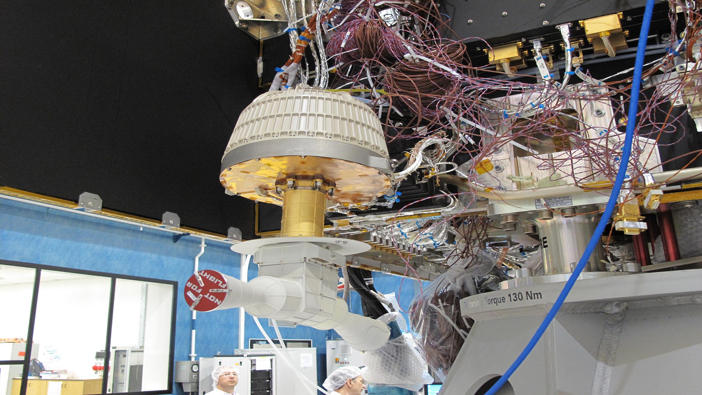 Das Massenspektrometer STROFIO installiert auf dem Mercury Planetary Orbiter (MPO).  © Universität Bern