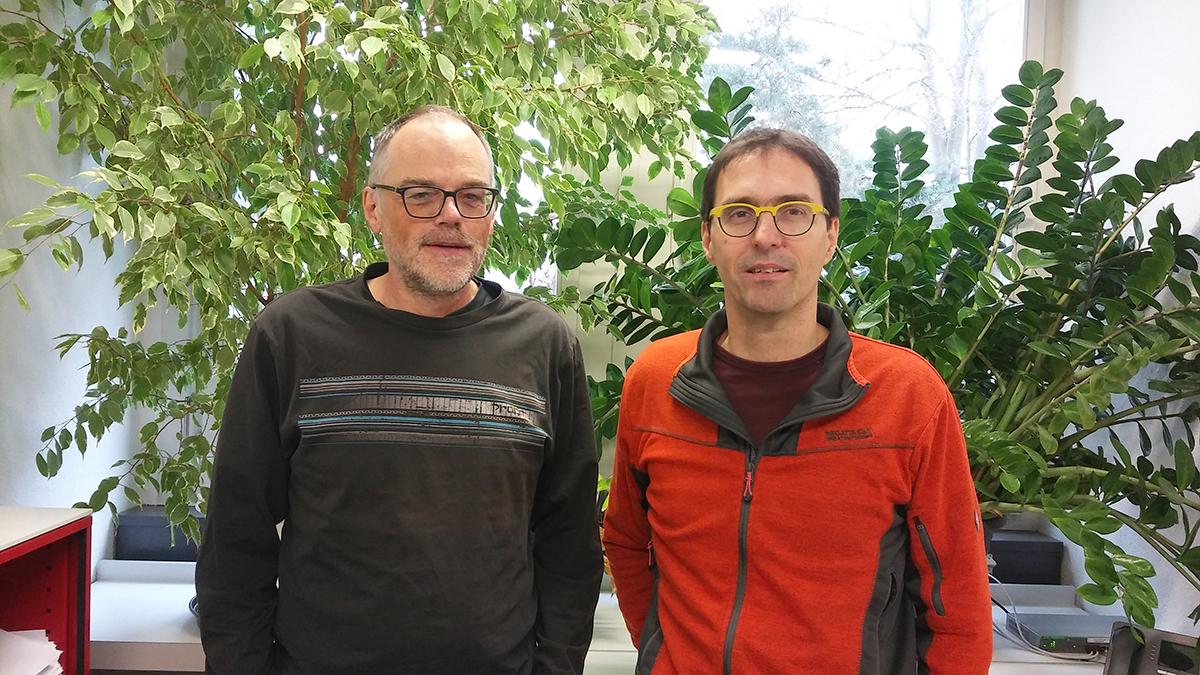Prof. Dr. André Schneider und Prof. Dr. Norbert Polacek. Bild: DCB, Universität Bern.