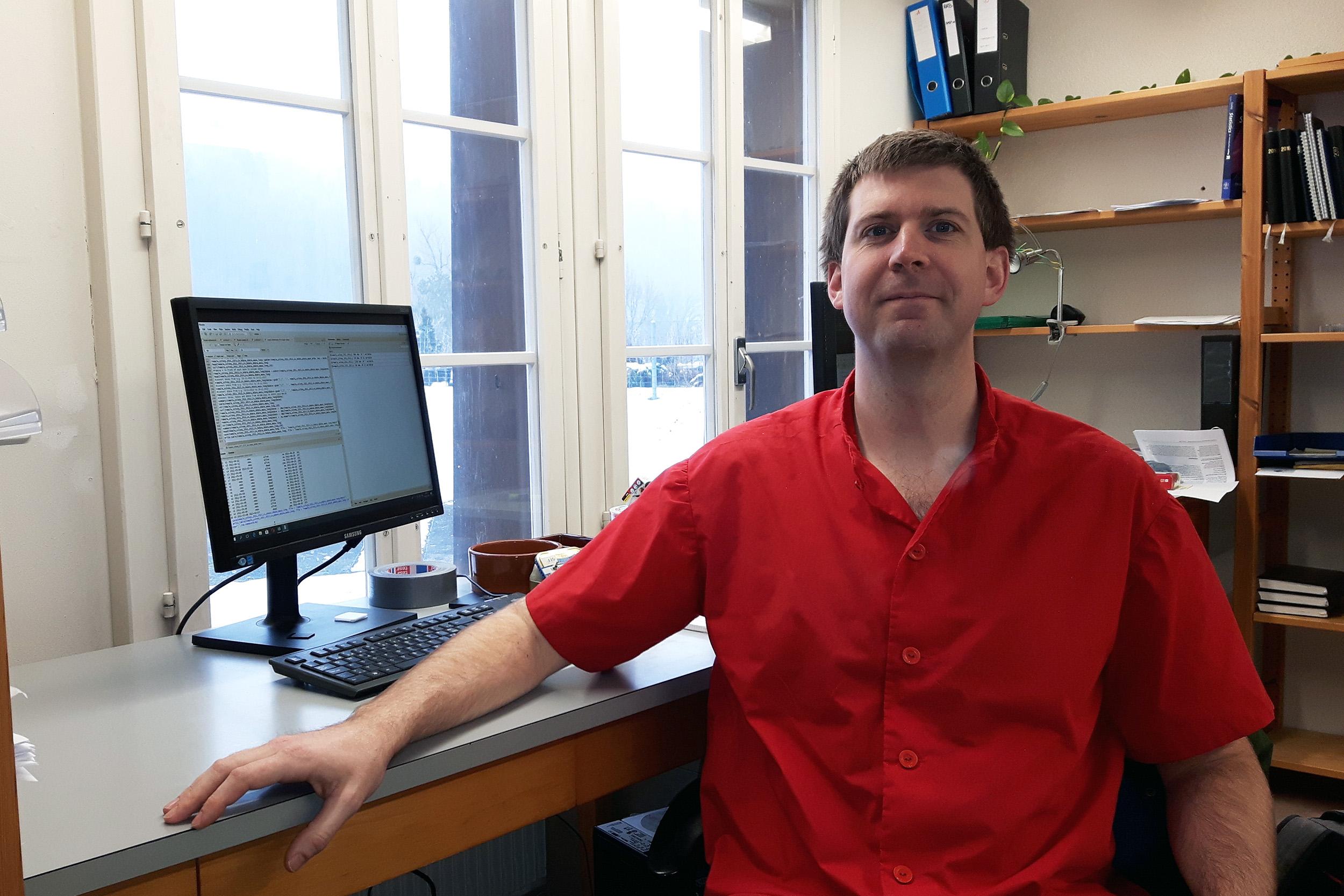 Dr. Sacha C. Engelhardt, Institut für Ökologie und Evolution (IEE). Bild: zvg.