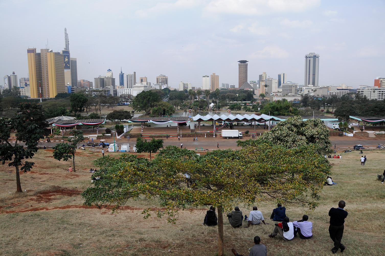 Nairobi, Kenia. Blick über den Uhuru Park. Foto: Hanspeter Liniger, CDE