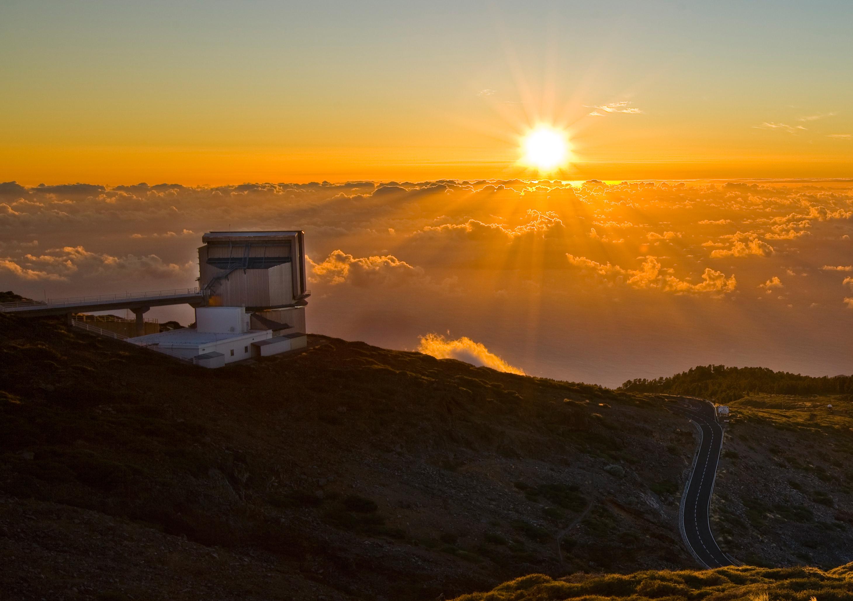 Das Telescopio Nazionale Galileo (TNG) des italienischen Istituto Nazionale di Astrofisica (INAF) auf der Kanareninsel La Palma. Bild: © INAF-TNG