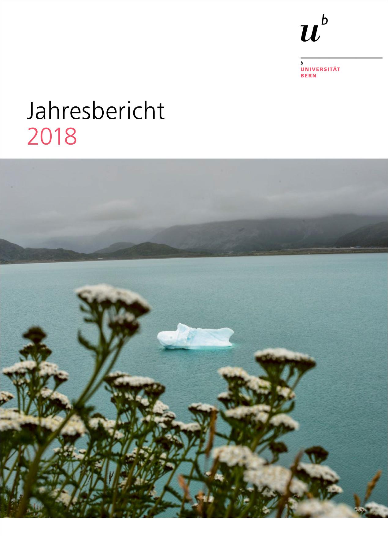 Die Titelseite des Jahresberichts 2018 der Universität Bern. © Universität Bern / Bild: KEYSTONE / NOOR / Kadir von Lohuizen