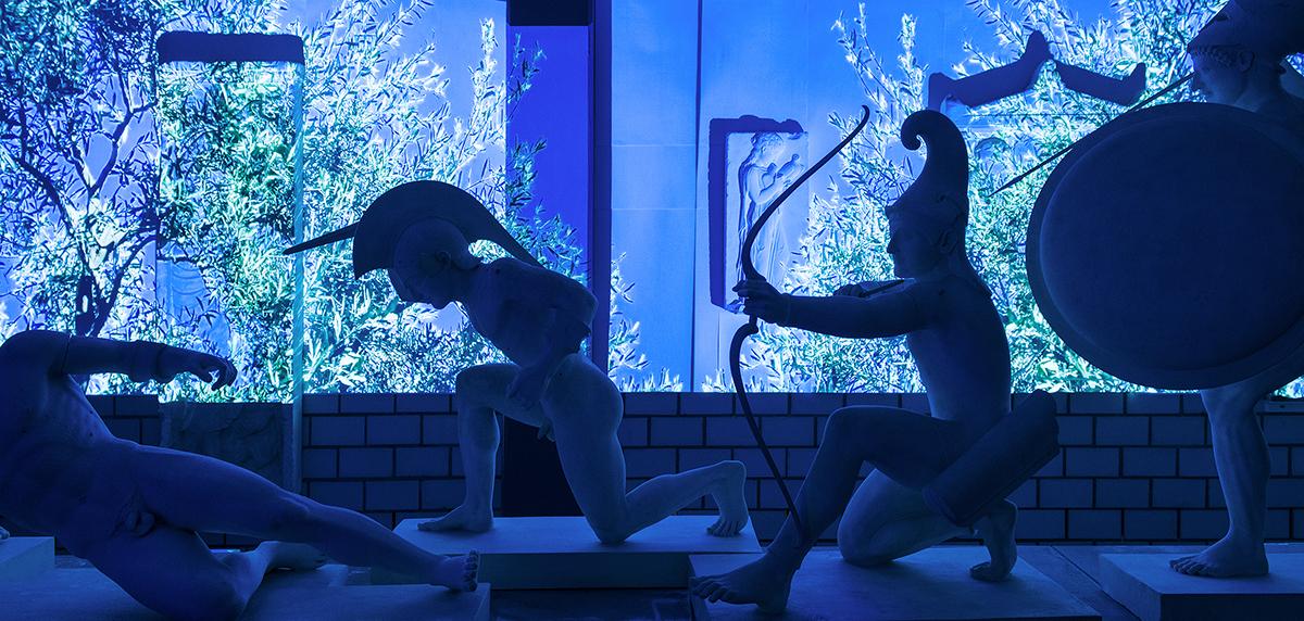 Spartenübergreifende Sonderausstellung: In «Facing History – Kulturgeschichte im Dialog» verbinden sich Interaktive Medienkunst, Schauspiel und Philosophie in äusserst lebhaften Szenografien.   Foto: Matthieu Brouillard