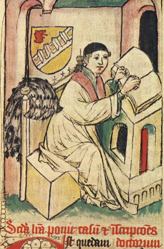 Winand von Steeg in seiner Studierstube.