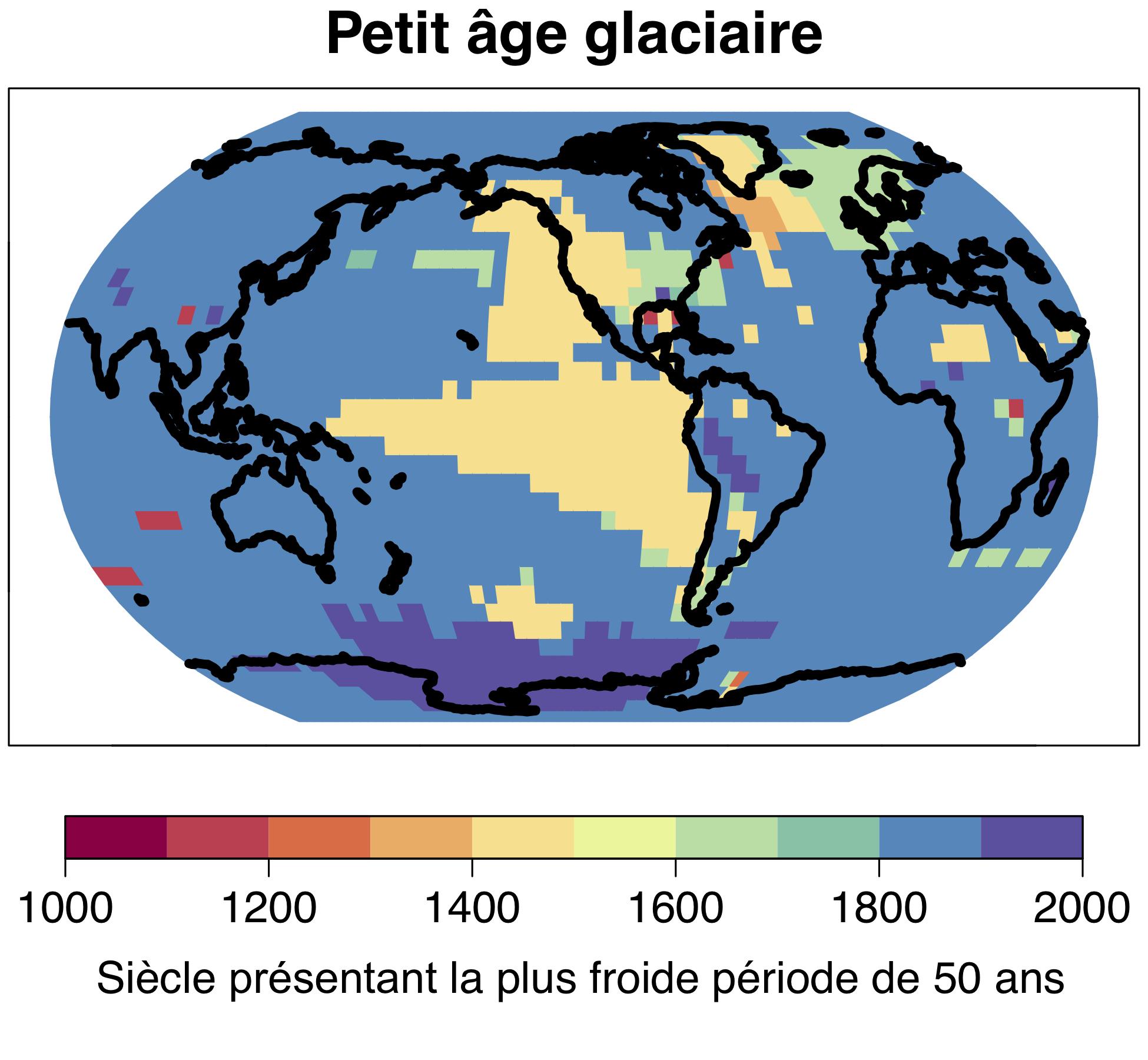 L'ère glaciaire devenue célèbre en Europe et en Amérique du Nord comme le «petit âge glaciaire» n'a pas été un phénomène mondial ; la période la plus froide de 50 ans du dernier millénaire a eu lieu de manière locale et à des moments différents. © Université de Berne