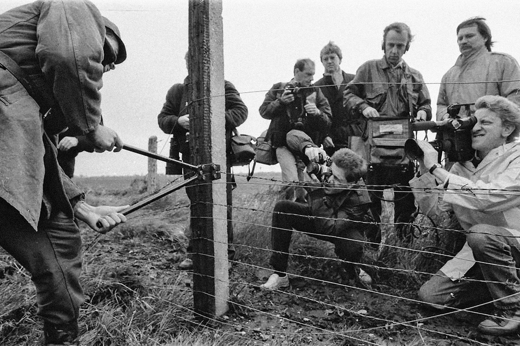 Ungarisch-österreichische Grenze 1989. © FORTEPAN / Zsolt Szigetváry