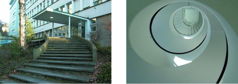 Seiteneingang und Treppe