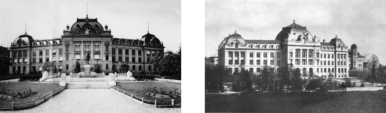 Hauptgebäude mit Schanzenpromenade um 1903