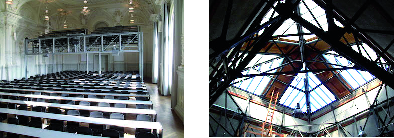 Aula und Kuppeldach