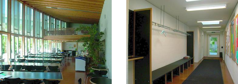 Mensa und Korridor