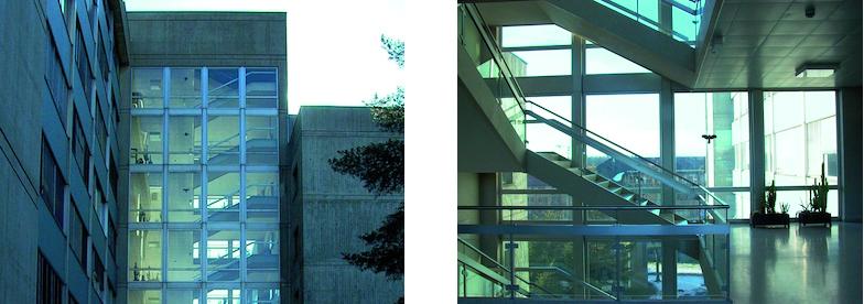 Treppenhaus des Chemiegebäudes