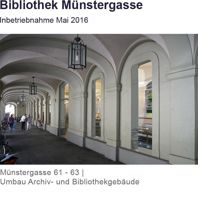 Bibliothek Münstergasse