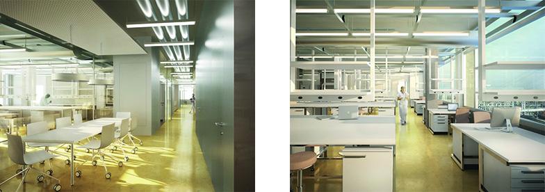 Visualisierung Labor und Laborgang