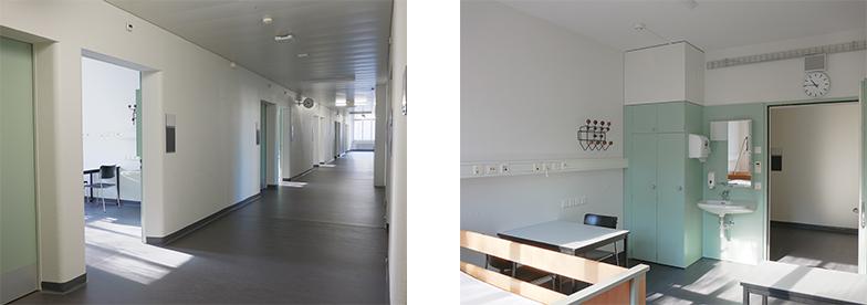 Korridor und Untersuchungsraum