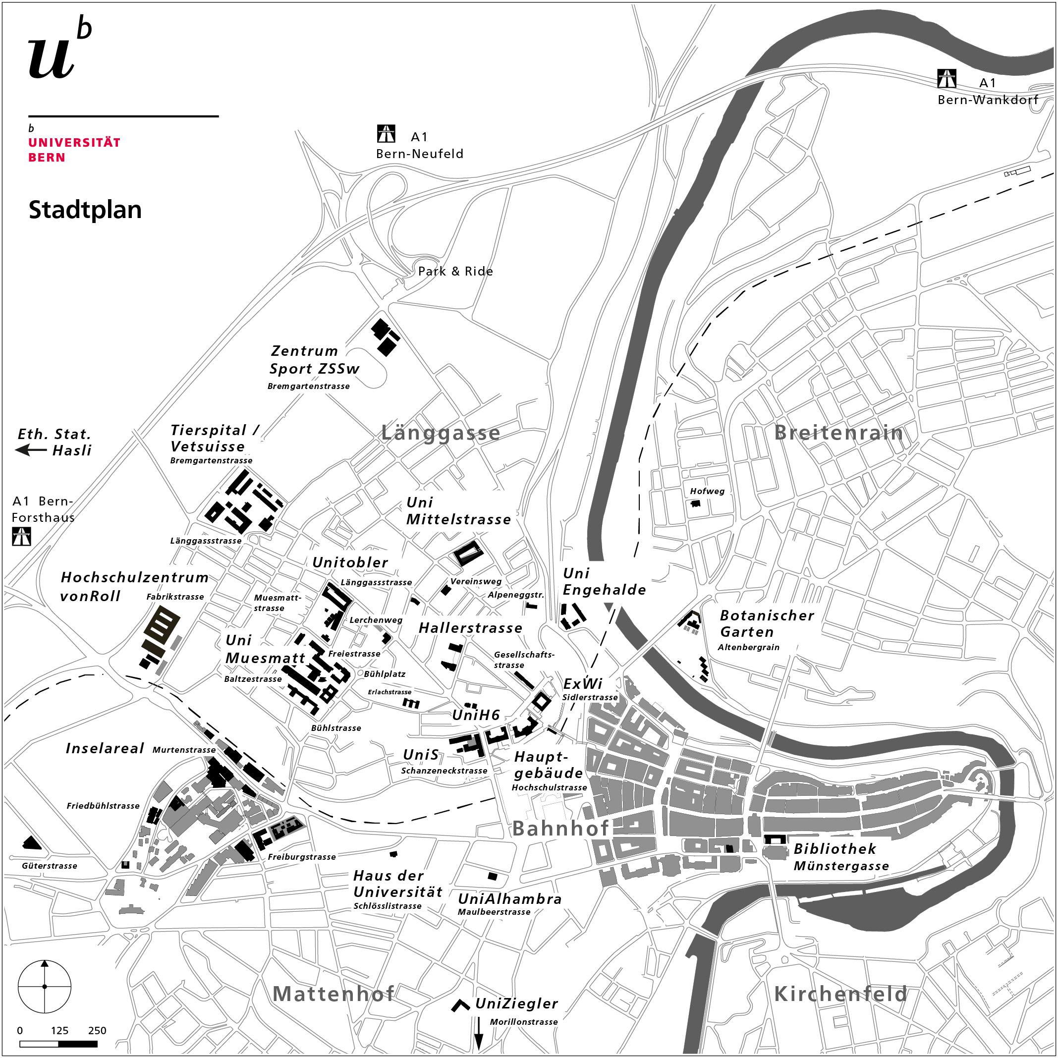 University: Maps - University of Bern