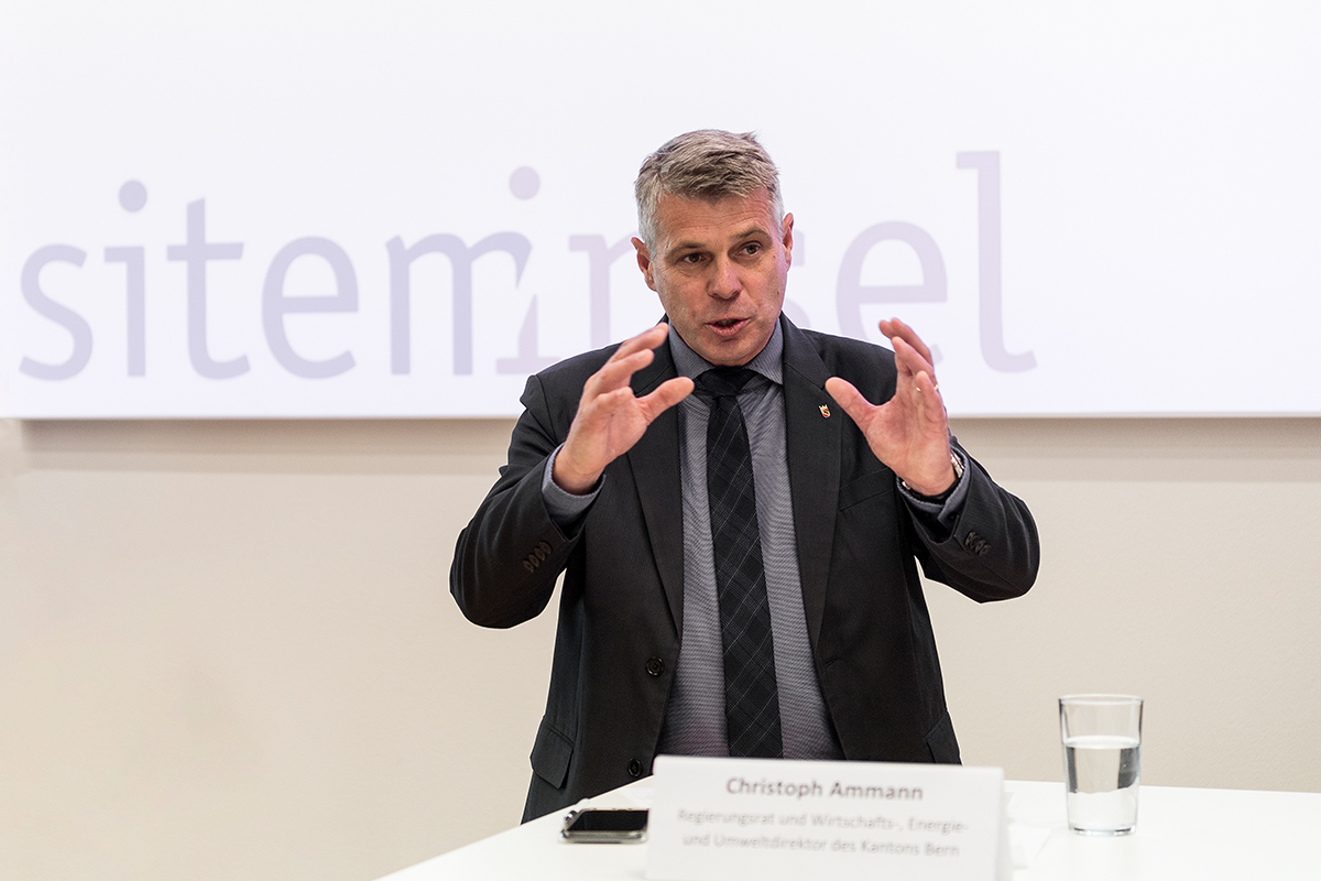 Christoph Ammann, member of the Executive Council. © University of Bern / Ramon Lehmann