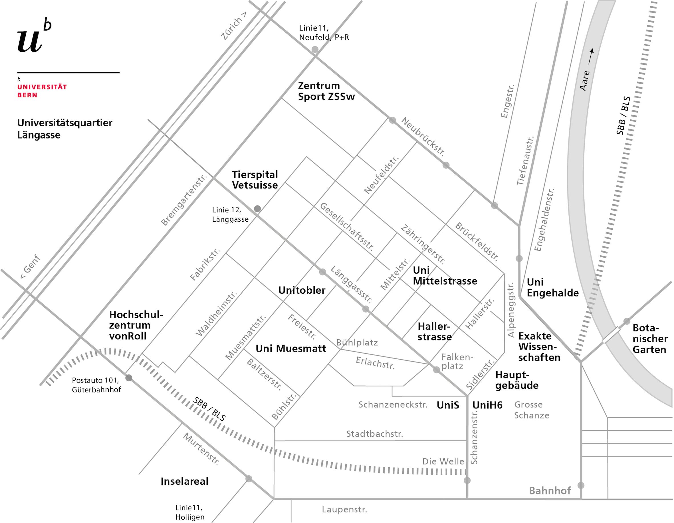 Stadtplan schematisch - Universität Bern
